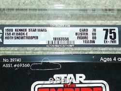 Vintage Star Wars 1980 AFA 75 HOTH SNOWTROOPER ESB 41 Back-E card MOC UNPUNCHED
