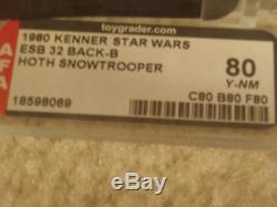 Vintage Star Wars 1980 AFA 80 HOTH SNOWTROOPER ESB 32 Back-B card MOC UNPUNCHED