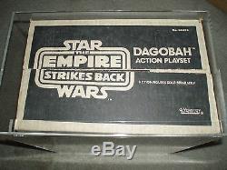 Vintage Star Wars 1981 AFA 75 YODA DAGOBAH ACTION PLAYSET ESB SEALED BOX MISB