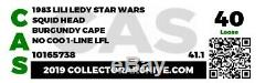 Vintage Star Wars 1983 Lili Ledy Squid Head with Burgundy Cape CAS 40