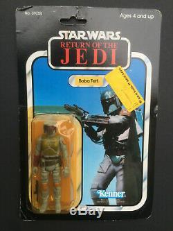Vintage Star Wars 1983 ROTJ 77-Back Boba Fett MOC Factory Sealed On Card