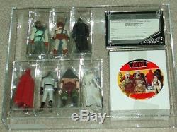 Vintage Star Wars 1984 RARE CAS/AFA 90+ ROTJ VILLIANS 7-PACK FIGURE MAILER BOX