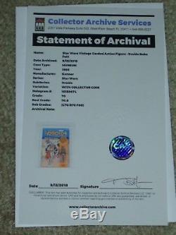 Vintage Star Wars 1985 CAS/AFA 70 BOBA FETT DROIDS Kenner Card Back MOC CLR BUB