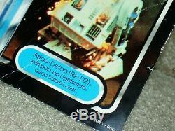 Vintage Star Wars 1985 R2-D2 POP-UP SABER TRI-LOGO Card Back MOC CLR BUB AFA IT