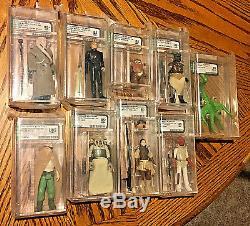 Vintage Star Wars AFA GRADED SET of 91 Action Figures 80-85-90