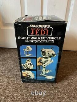 Vintage Star Wars AT-ST Scout Walker 1983 ROTJ Box