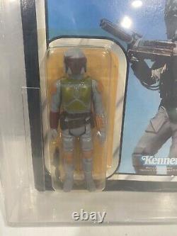 Vintage Star Wars BOBA FETT MOC AFA 80 ROTJ 77 Back Kenner Sealed 1983 1 Owner
