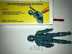 Vintage Star Wars Boba Fett Rocket Firing reproduction Prototype with Box