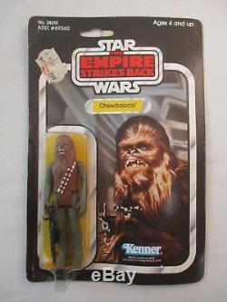 Vintage Star Wars CHEWBACCA Figure MOC NEW Kenner 1980 41 Back ESB Card