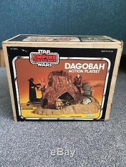 Vintage Star Wars Dagobah Playset Boxed Original Instructions