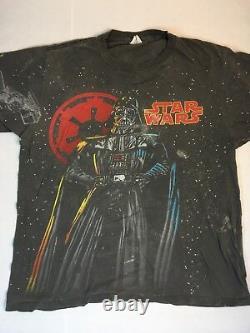 Vintage Star Wars Darth Vader T Shirt All Over Print Rare VTG XL
