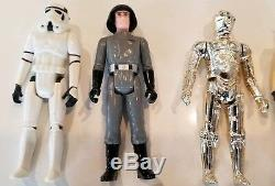 Vintage Star Wars Display Stand 1977 Mail Away & First 12 Action Figures Kenner