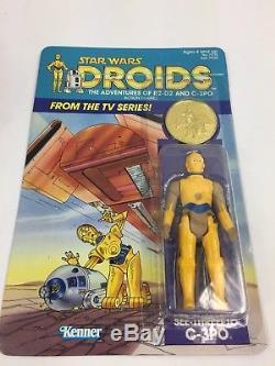 Vintage Star Wars Droids Cartoon C-3po See-threepio Figure Kenner Rare