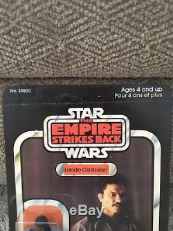 Vintage Star Wars ESB Canadian 41-back LANDO CALRISSIAN MOC Clear Bubble