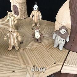 Vintage Star Wars EWOK VILLAGE Playset Figures & Accessories Kenner Toy Bundle