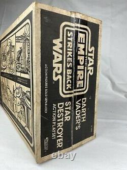 Vintage Star Wars Empire Strikes Darth Vaders Star Destroyer Box 1980 Kenner