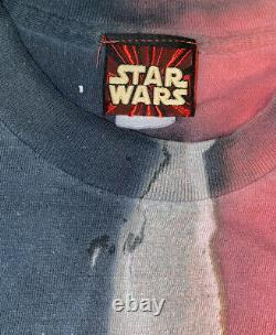 Vintage Star Wars Episode 1 Darth Maul Mens Light Saber T-Shirt Shirt Sz Large