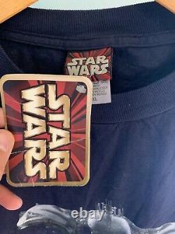 Vintage Star Wars Episode 1 Tie Dye Shirt NWT Movie Promo 1999 90s