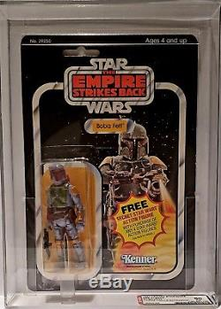 Vintage Star Wars Esb 21 Back Boba Fett Afa 80 (85/80/85)! Super Rare Moc! Pop 2