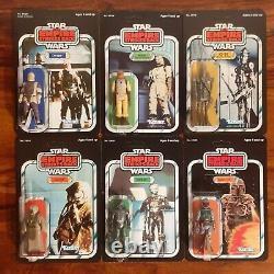 Vintage Star Wars Figure Bounty Hunter Recard Set Kenner 1980 Boba Fett, ESB