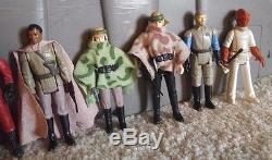Vintage Star Wars Figures Endor Lot with original weapons