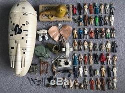 Vintage Star Wars Figures x56 And Vehicles Job Lot