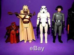 Vintage Star Wars First 12 Figure Lot Darth Luke Ben Leia Han R2D2 Jawa C3PO