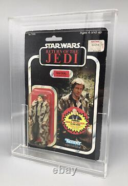 Vintage Star Wars Han Solo Trench Coat Camo Lapels ROTJ Kenner 77 Back MOC Rare