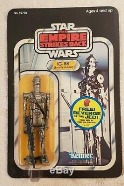 Vintage Star Wars IG-88 AFA Unpunched. Empire Strikes Back Bounty Hunter
