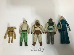Vintage Star Wars Jabba the Hutt, Rancor, & 5 loose figure Lot