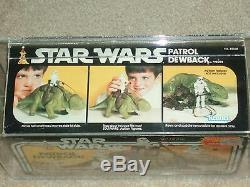 Vintage Star Wars KENNER AFA 75 PATROL DEWBACK FIGURE MISB SEALED BOX 1983