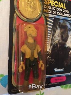 Vintage Star Wars Kenner Canada Yak Face POTF MOC Figure with Coin Canadian