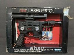 Vintage Star Wars Laser Pistol Han Solo Blaster Kenner 1983 Complete WORKS
