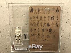 Vintage Star Wars Lili Ledy Ukg 80/85 Stormtrooper With Card back