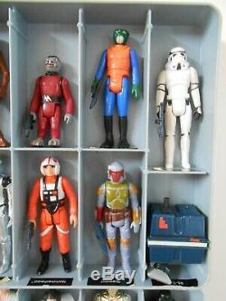 Vintage Star Wars Lot First 12 21 Kenner Collectors Case Boba Fett Luke 1977