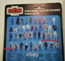 Vintage Star Wars Luke Skywalker Brown Hair ESB 41 Back Offer Less Moc $2295