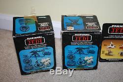Vintage Star Wars Mini Rig Box Only Lot Radar Tri-Pod CAP-2 Endor Ranger C1217