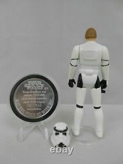 Vintage Star Wars POTF 1984 Luke Stormtrooper N Mint Complete withCoin Kenner