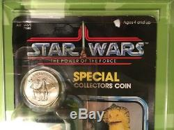 Vintage Star Wars POTF Amanaman AFA 60 Y-EX (C60 B85 F85) MOC with Coin 92 back