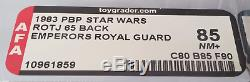 Vintage Star Wars Pbp Emperor's Royal Guard Afa 85 (80/85/90)! Super Rare Moc
