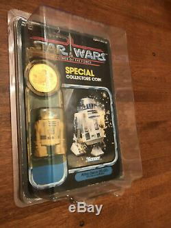 Vintage Star Wars R2-D2 POTF 1984 Pop-up Lightsaber MOC RARE 92 back last 17