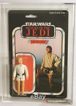 Vintage Star Wars Rotj 45 Back Luke Skywalker Blonde Hair Afa 80+ (80/85/80) Moc