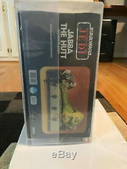 Vintage Star Wars Rotj Jabba The Hutt Playset Misb Kenner Afa 80