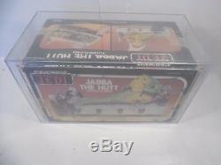 Vintage Star Wars Rotj Jabba The Hutt Playset Sealed Kenner Afa Graded 70 Ex+