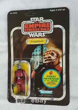 Vintage Star Wars SNAGGLETOOTH AFA Unpunched. Empire Strikes Back 48 BACK