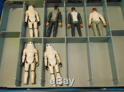 Vintage Star Wars/Star Trek lot of 17 Action Figures with Collectors Case