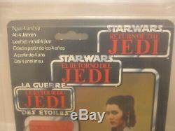 Vintage Star Wars Tri Logo / Palitoy Leia Bespin AFA 80
