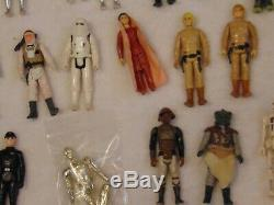 Vintage Star Wars lot of 83 Action Figures with many accessories