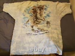 Vintage Star Wars shirt Empire Strikes Back 1997 Liquid Blue walker tauntaun