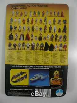Vintage Sw Rotj Moc Up Yoda Pac-man Eyes Brown Snake 65 Back Return Of The Jedi